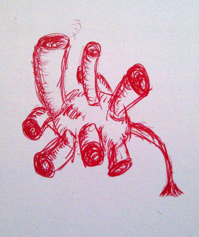 Einige Gedanken und ein Scribble: der stalkerSome thoughts & a scribble: the stalker