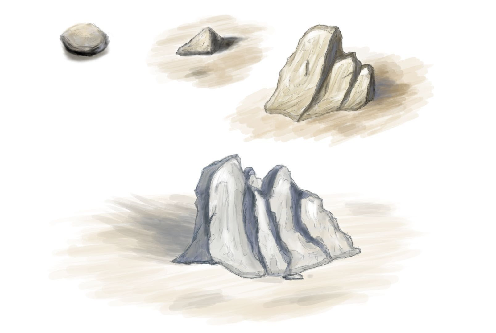 Scribble: SteineScribble: rocks!